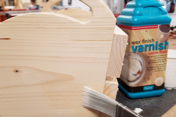 Applying Polyvine wax finish varnish