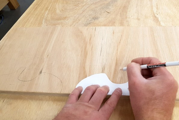 Marking up the plywood
