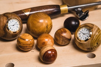 A previous Woodworking Wisdom session - turning balls