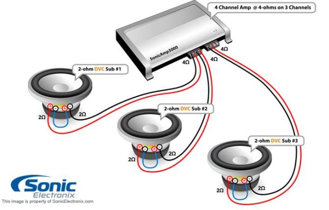 diagram subwoofer wiring diagram for 1 dvc 2 ohm full