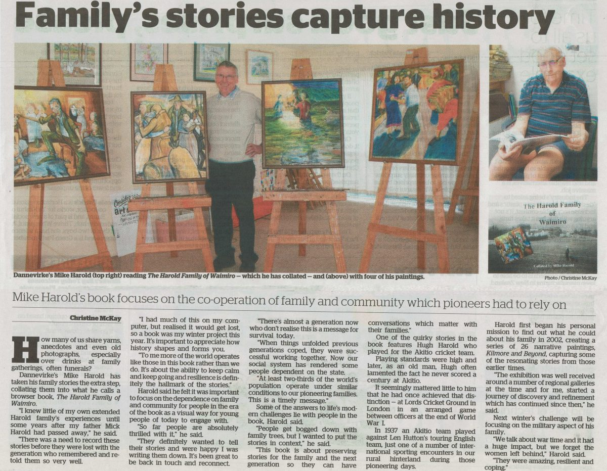 Newspaper Article Family S Stories Capture History