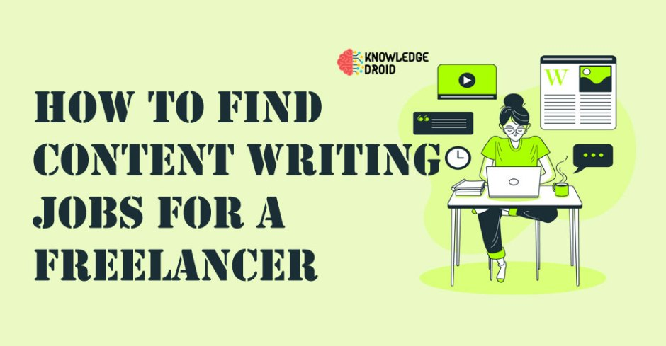 How to find content writing jobs for freelancer