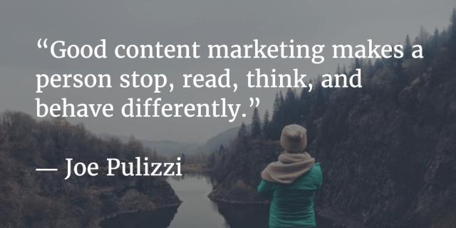 Good content marketing