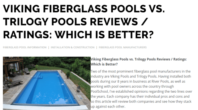 Which Pool Manufacturer is Better.