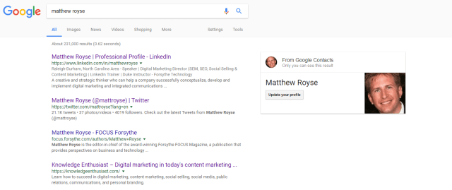 Matthew Royse Google Search