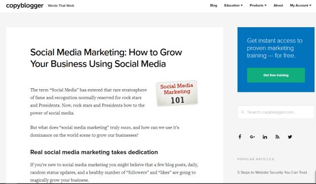 Copyblogger Social Media Marketing