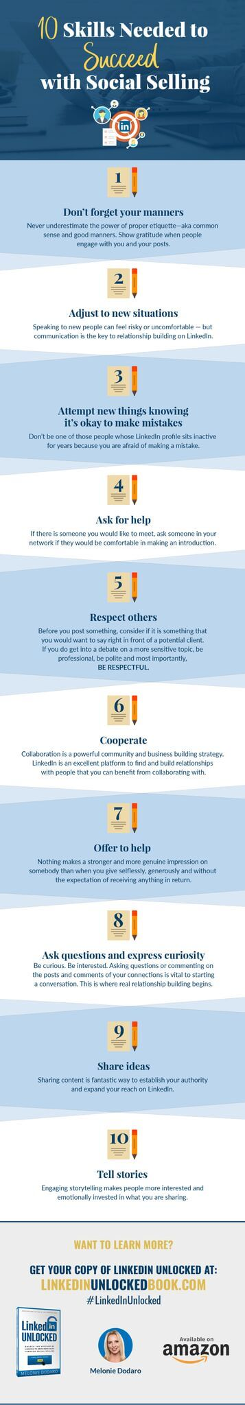 Skills to Succeed with Social Selling on LinkedIn Infographic compressed