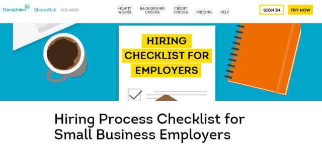 Hiring Process Checklist
