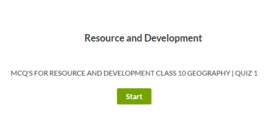 MCQ's for Resource and Development