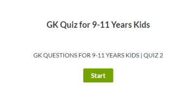 GK Questions for 9-11 Years | Quiz 2