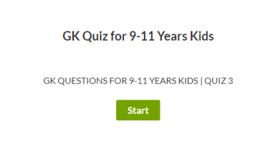 GK Questions for 9-11 Years | Quiz 3