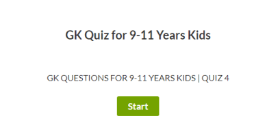 GK Questions for 9-11 Years | Quiz 4