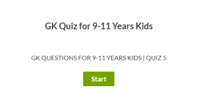 GK Questions for 9-11 Years | Quiz 5