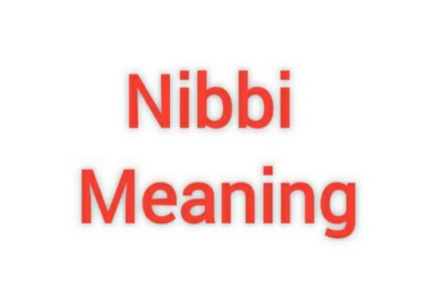 Nibbi Meaning