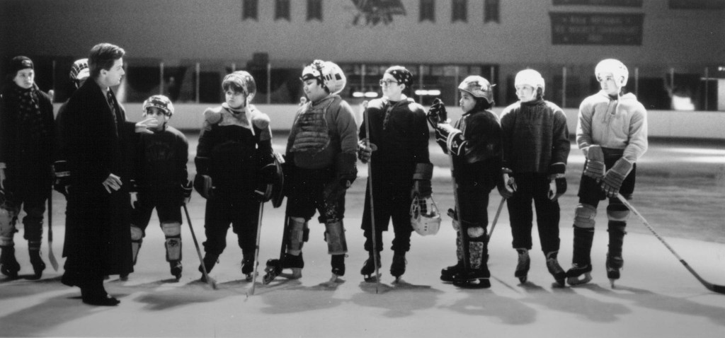 still-of-emilio-estevez,-joshua-jackson,-marguerite-moreau-and-elden-henson-in-the-mighty-ducks