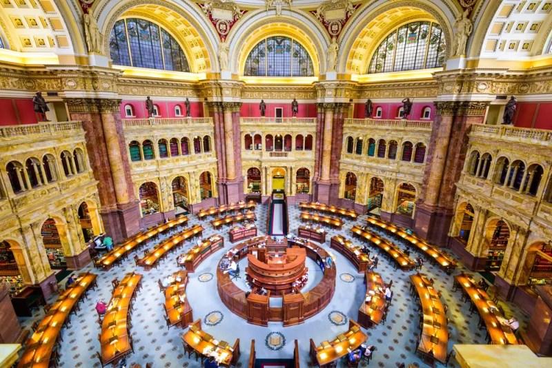 WASHINGTON, D.C. - APRIL 12, 2015: The Library of Congress in Washington. The library officially serves the U.S. Congress.