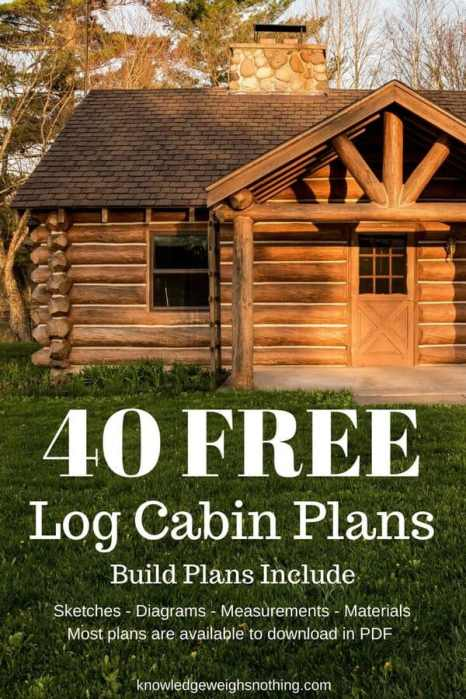 Log Home Plans 40 Totally Free Diy Log Cabin Floor Plans
