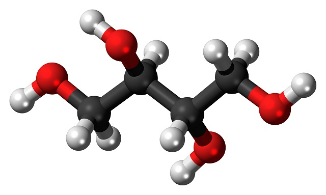 sugar alcohols-Ball-and-stick-model-of-the-erythritol-molecule