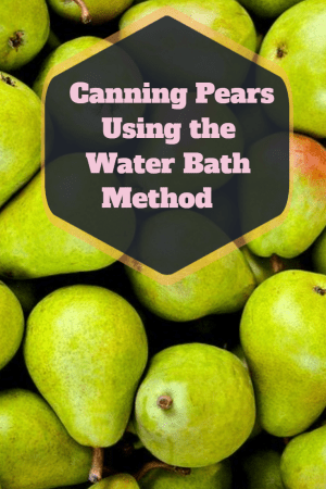 canning pears using the water bath method