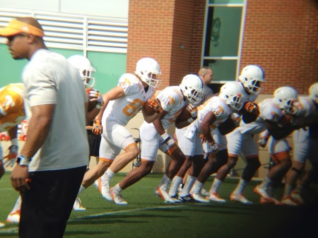 Tennessee football practice