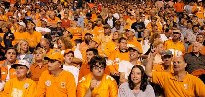 """<span class=""""caps"""" data-recalc-dims=""""1"""">UT</span> Vols Basketball' /></p> <p>I stood up last night after watching most of the UT basketball game and said…I have had enough!  I walked out of Casey's house without saying a word, disappointed. </p> <p>I told him this morning that when I walked out of his apartment with around 4 min. remaining, I spotted 5 other men walking around flailing their hands in the air and cursing. I find it ironic that so many people felt the same way and basically acted in the same manner. </p> <p>It was a great year for the Vols, but let's be honest:</p> <p class=""""question"""">As a Knoxvillian, how did you react when you found out the Vols would again not make it to the Elite 8?</p> <p><em>Photography by <a href=""""http://www.flickr.com/photos/34725795@N00/140080727/"""">pierre lascott</a></em></p>  <div id="""
