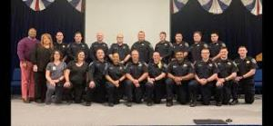 Graduating COTA officers posing