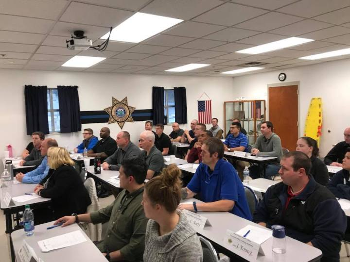 KCSO Corrections Training students sitting in class