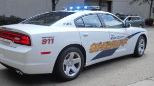 KCSO cruiser with lights on