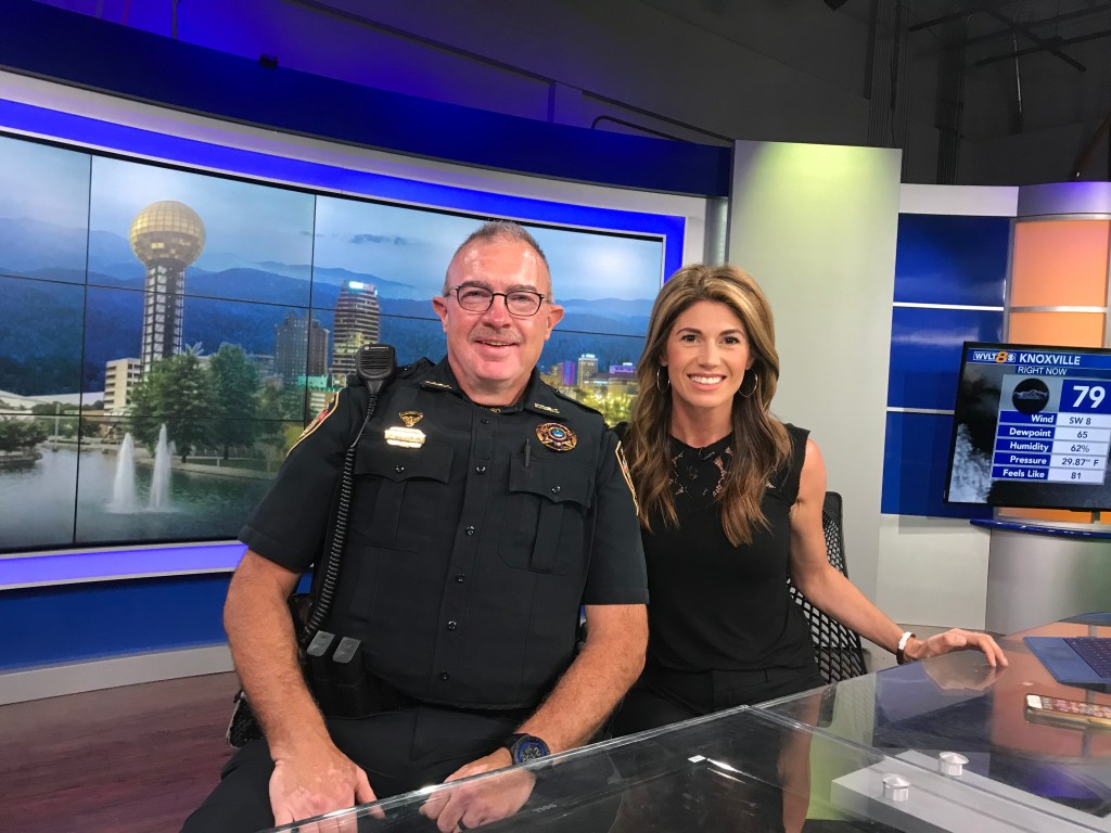 KCSO officer with news anchor