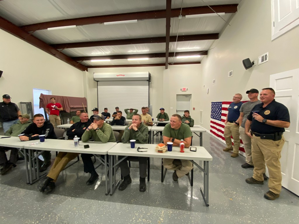 K9 instructors and officers in classroom