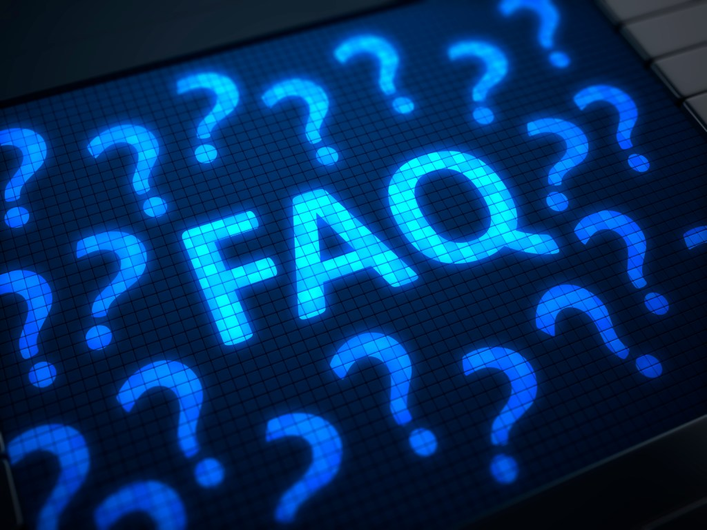 FAQ on digital screen