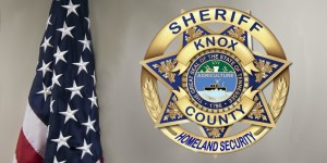 KCSO Homeland security badge next to american flag