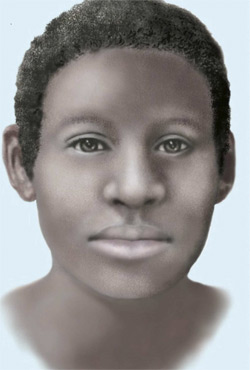 Reconstructed drawing of unidentified victim