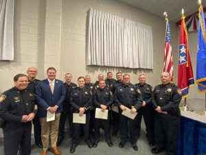 Sheriff, Chief Deputy, and newly sworn in Reserves officers