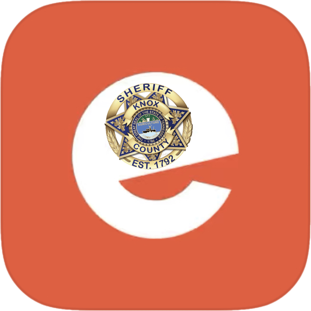 E with KCSO badge on orange background