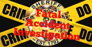 """Fatal Accident Investigation"" over KCSO badge and caution tape with black background"