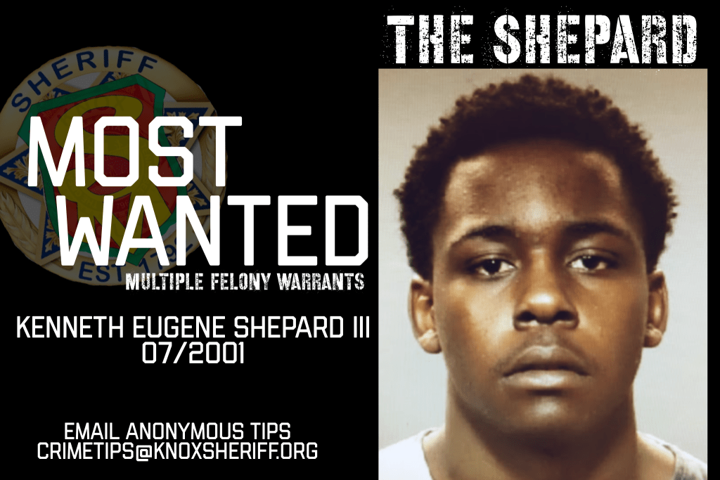 Eugene Shepard Male mugshot with KCSO Wanted