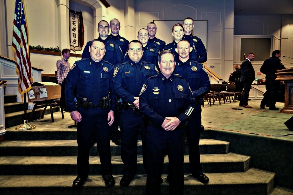 KCSO Graduates posing with Sheriff Spangler