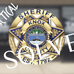 """KCSO badge with """"Knox Tactical solved"""""""