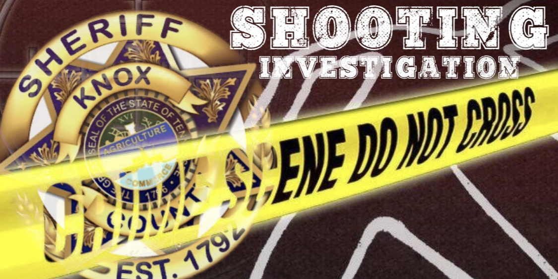 """KCSO badge, crime tape and """"shooting Investigation"""""""