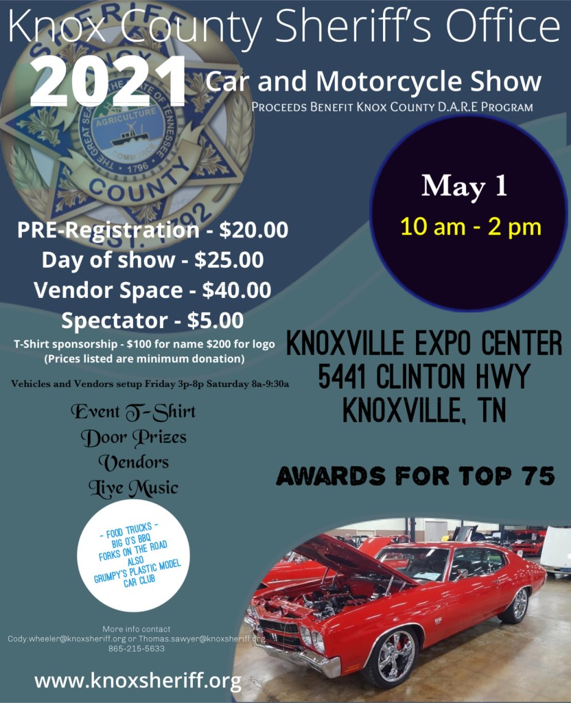Flyer for 2021 Car and Motorcycle Show