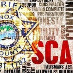 """""""SCAM"""" over KCSO badge"""