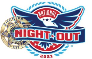 """""""National night out"""" logo with KCSO badge"""