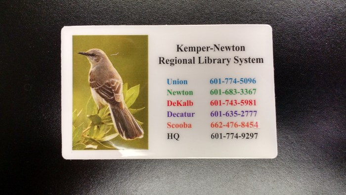 KNRLS Library Card.