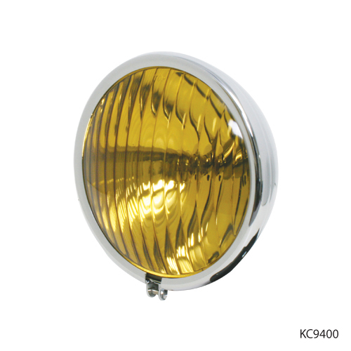 KNS Accessories KC9410 1940 Chrome Fog Light with Amber Glass Lens and Painted Bracket