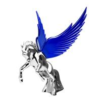 Chrome Fighting Stallion Hood Ornament | 48390