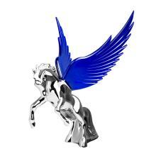 Chrome Fighting Stallion Hood Ornament | 48390