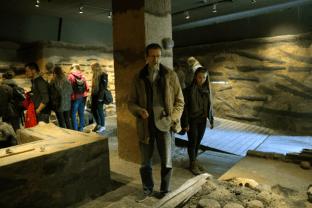 Podczas zwiedzania interaktywnej wystawy