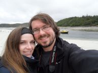 Tomus und Sarah am 'Sands of Morar'