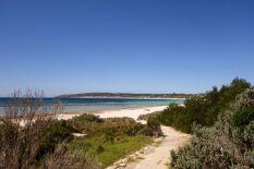 Der schöne Strand an der Emu Bay